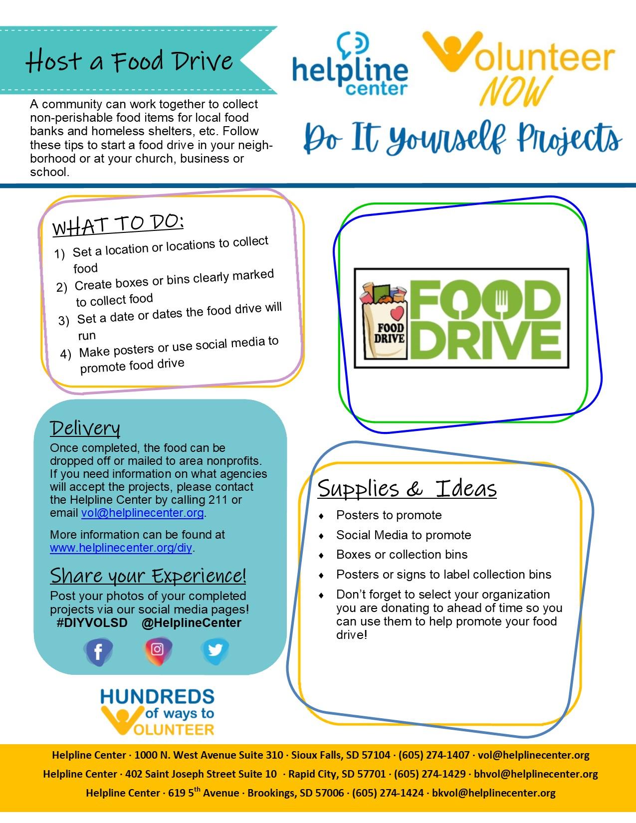 DIY Volunteer - Food Drive