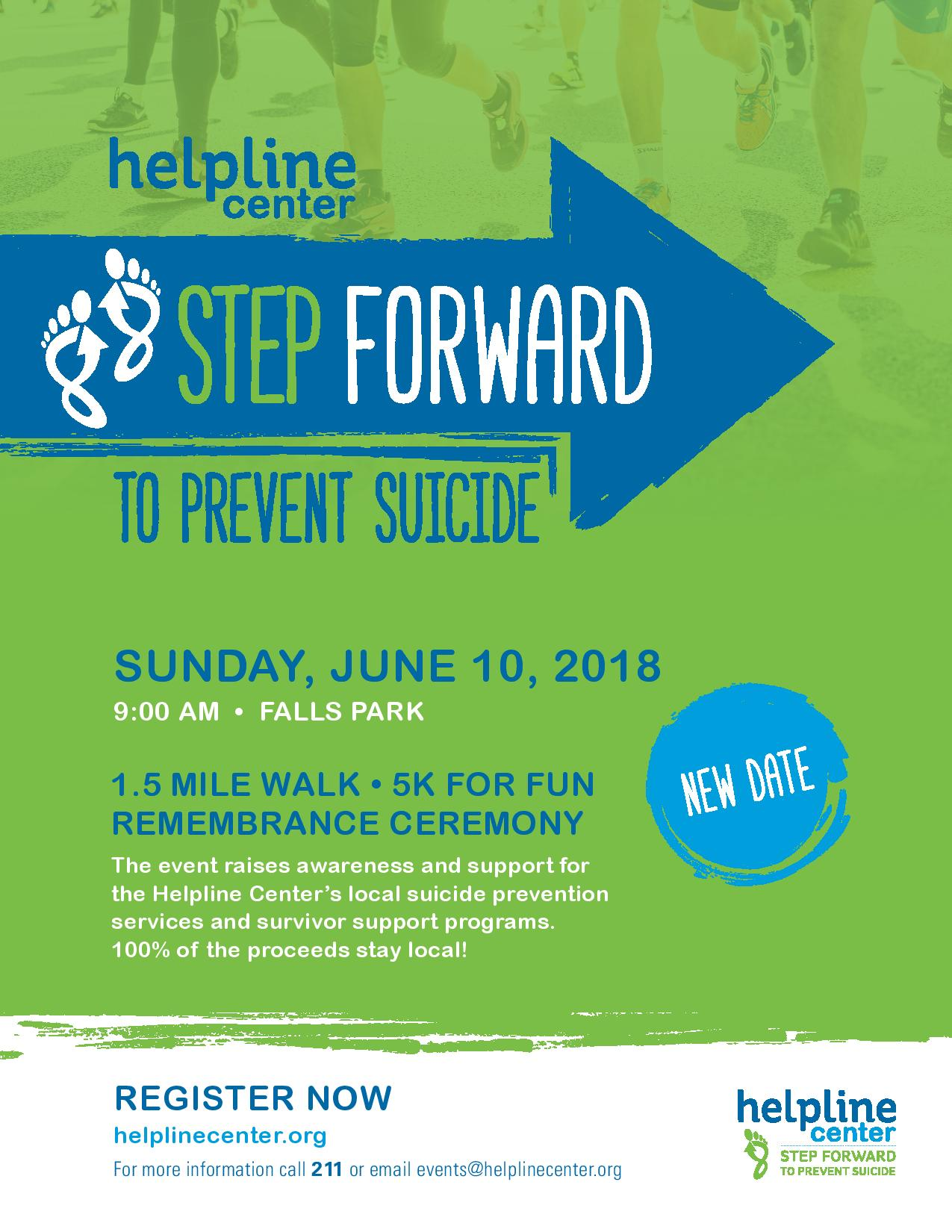 step forward to prevent suicide – sioux falls – june 10 | helpline