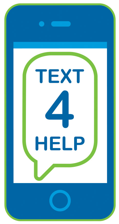 text 4 help graphic